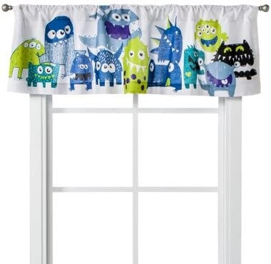 Monster Party Window Valance – 54×15 – This is a great selection at Home Kitchen Store – bedroom – Cotton 100 .