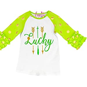 Baby Toddler Little Girls Valentine's Day, St. Patrick's Day, Easter Raglan T-Shirt Fashion Tee Top