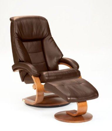 Amazing Mac Motion Oslo Collection Mandal 58 Lo3 40 103 Swivel Recliner And Ottomon In Expresso Leather With Walnut Finish Gmtry Best Dining Table And Chair Ideas Images Gmtryco