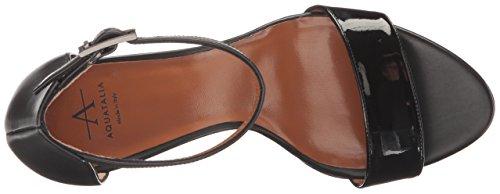 Aquatalia by Marvin K. Women's Nina Patent/Calf Dress Sandal Black/Black WDOf8Rs