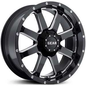 Gear Alloy Big Block 20 Black Wheel / Rim 8x170 with a -44mm Offset and a 130.18 Hub Bore. Partnumber 726MB-2128744 ()