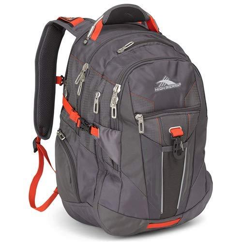 High Sierra XBT Business Laptop Backpack - 17-inch Laptop Backpack for Men or Women, Mercury/Crimson