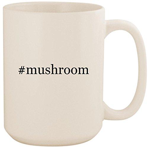 Portabella Pasta Mushroom (#mushroom - White Hashtag 15oz Ceramic Coffee Mug Cup)