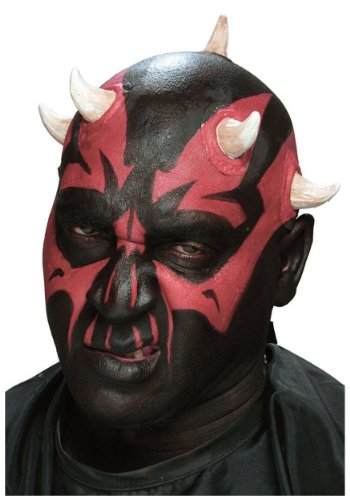 Cinema Secrets Dark Sith Horns Prosthetic Appliance, Black,red, Standard ()