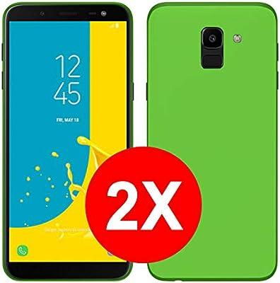 TBOC 2X Funda de Gel TPU Verde para Samsung Galaxy J6 (2018) J600F (5.6 Pulgadas) [Pack: Dos Unidades] de Silicona Ultrafina y Flexible [No es Compatible con el Samsung J6 Plus: Amazon.es: