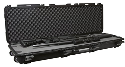 Plano Mil-Spec Field Locker Tactical Long Gun Case with Wheels, Double Long Gun Case