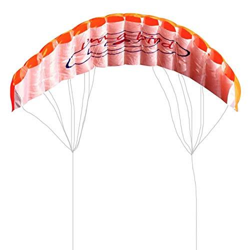 StoreDavid - Outdoor Fun Sports Power Dual Line Stunt Parafoil Parachute Rainbow Sports Beach Kite For Beginner Easy to Fly