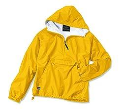 Charles River Apparel Women\'s Lightweight Waterproof Pullover, Golden Yellow, S