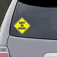 Baby on Board Yield Vinyl Decal Sticker Decor Car Decal