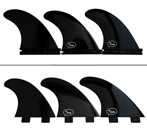 Ho Stevie! Fiberglass Reinforced Polymer Surfboard Fins - Thruster (3 Fins) FCS or Futures Sizes, Choose Color (Black, Futures) - Thruster Fin