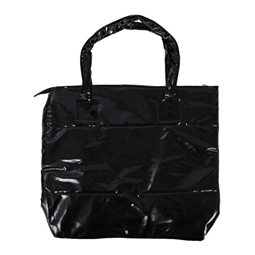 TOOGOO(R) Productos de venta caliente Bolso de algodon de moda de invierno de de color puro Bolso de hombro - Oro Negro