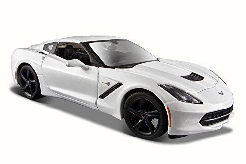 Maisto 2014 Chevy Corvette Stingray Coupe, White 31505-1/24 Scale Diecast Model Toy - Corvette 24 Coupe Scale