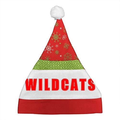 Wildcats Christmas Hat Or Nice Festive Holiday Hat Velvet Santa Hat ()