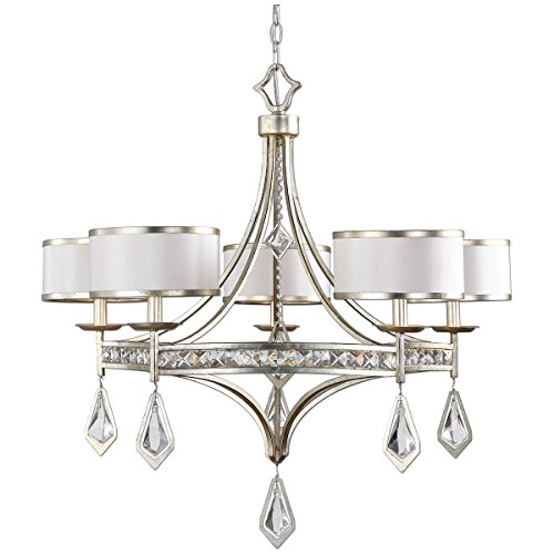 Uttermost 21268 Tamworth 5 Light Chandelier, Silver Champagne Finish