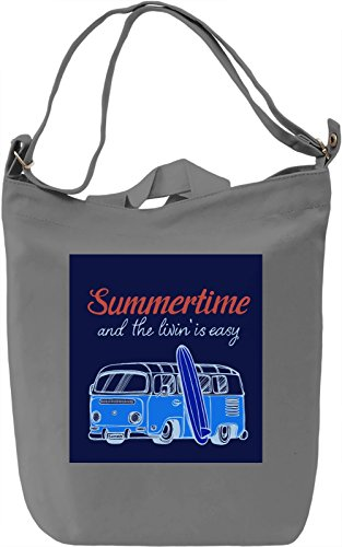 Summertime Borsa Giornaliera Canvas Canvas Day Bag  100% Premium Cotton Canvas  DTG Printing 