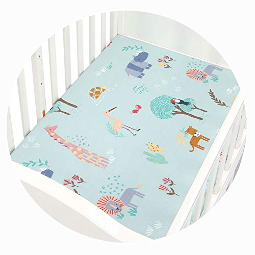(Qianqian Paper Crane 100% Cotton Crib Fitted Sheet Soft Breathable Baby Bed Mattress Cover Cartoon Newborn Bedding,CLS0046)