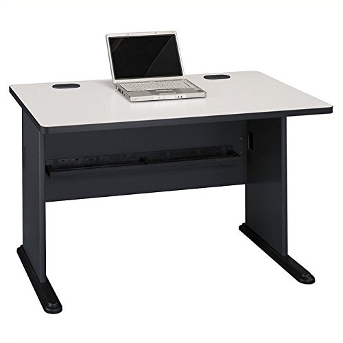 (Bush Business Furniture Series A 48W Desk in Slate and White Spectrum)