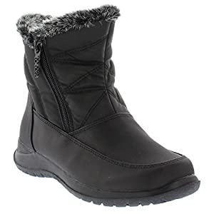 Totes Dalia Women's Winter Boots | Faux Fur Lined Comfy Waterproof Snow Boot With Rubber Grip Sole Size-9 M US