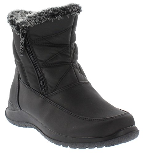 (totes Womens Dalia Dual Side Zip Snow Boot, 8 M US)