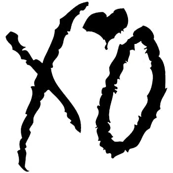 Amazoncom Calcomaniacutea De The Weeknd Xo Arte
