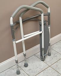 Healthex Portable Healthcare Buckingham Foldeasy Safe Support Bathroom Aid
