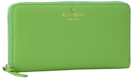 Kate Spade New York Cobble Hill Lacey PWRU1801 Wallet,Shamrock,One Size, Bags Central