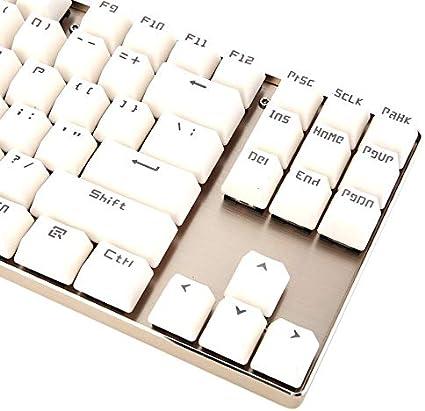 Teclado mecánico Clicky K 87 mecánico Keybord de Aluminio ...