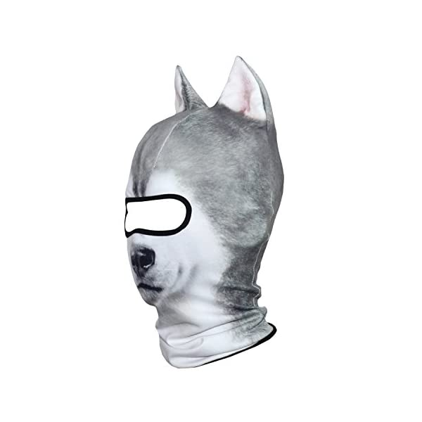 AXBXCX 3D Animal Neck Gaiter Warmer Windproof Full Face Mask Scarf for Ski Halloween Costume 3