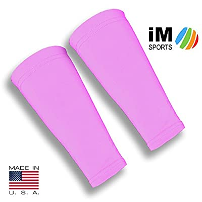 iM Sports Attacker Volleyball Forearm 9 Inch Mild Compression Sleeves + Fits Adults & Youth + Made in USA - No-Slip Gripper (Pair of Volleyball Forearm Sleeves) by iM Sports