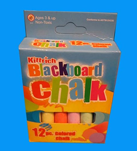 12Pc. Colored Chalk Kittrich, Case of 144 by DollarItemDirect