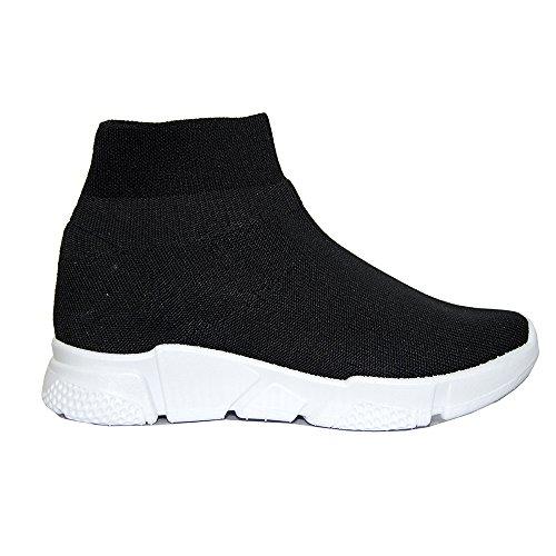 39 Fitness Calzino Donna Nero Palestra No Scarpe Lacci Ginnastica Corsa Sneakers Popposhoes Style aPHqvw