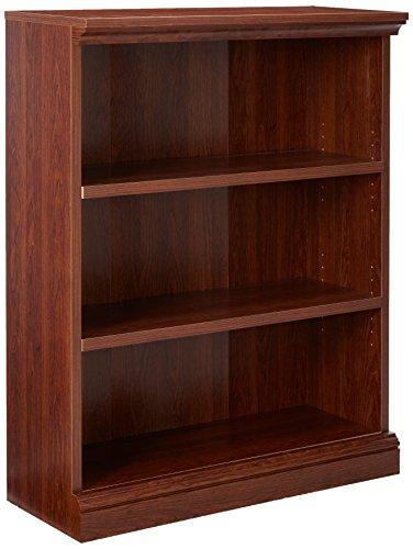 - Sauder Camden County 3-Shelf Bookcase, Planked Cherry Finish