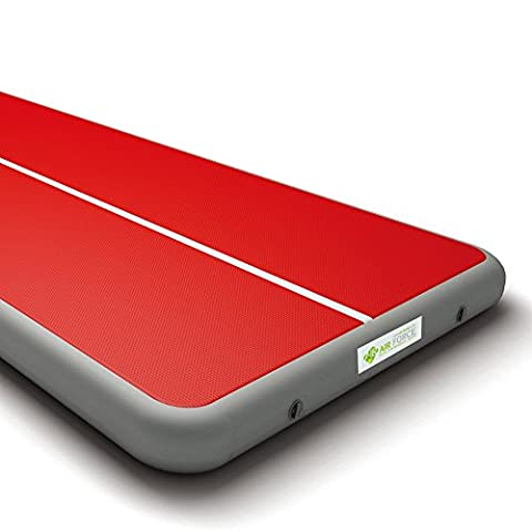 AIR FORCE ECO Gymnastics Air Track Mat, Thickness 7.87inch x Width 6.56ft, Red L26.25ft(8m)