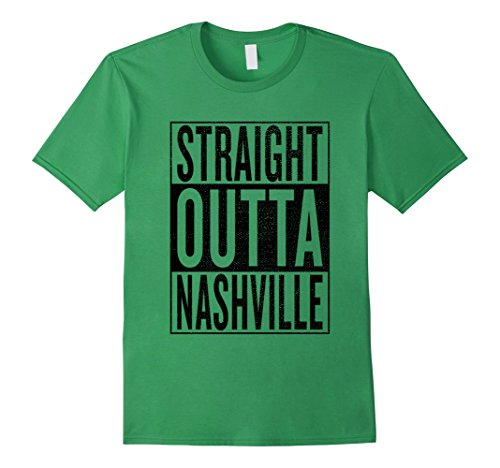 fan products of Mens Straight Outta Nashville Great Fun Travel Gift Idea T-Shirt 3XL Grass
