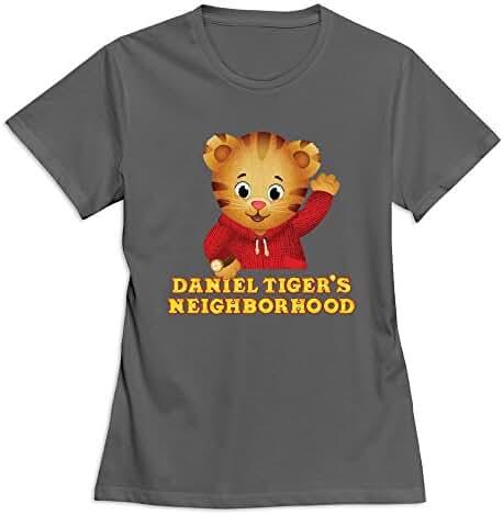 YWT Daniel Tiger's Neighborhood Womens T Shirts Slim Fit Funny DeepHeather