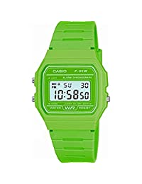 watch RELOJ CASIO DIGITAL VERDE F-91WC-3AEF
