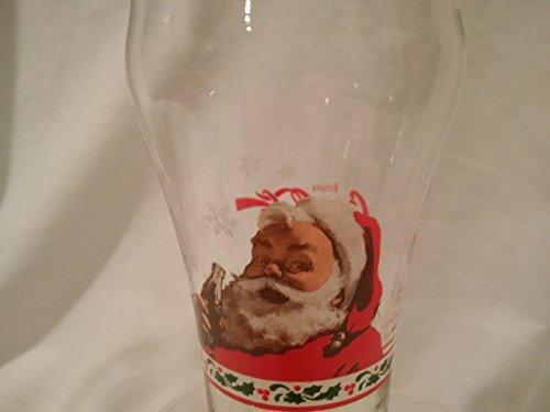 Coca Cola Santa Fountain Glass  Coke Santa Glass  Vintage Santa Coca Cola Glass