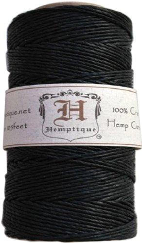 Hemptique #20 Hemp Cord Spool Black