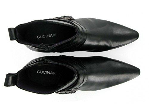 Gucinari RODRIGO Mens Cuban Heel Pointed Winklepicker Buckle Beatles Boots Tan