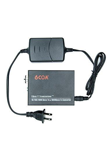 6COM Gigabit Ethernet Media Converter, 10/100/1000Base-TX to 1000Base-FX SFP Slot, without Transceiver by 6COM (Image #3)'