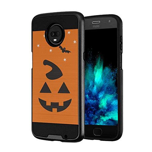 (Capsule Case Compatible with Moto Z3, Moto Z3 Play (2018) [Hybrid Fusion Dual Layer Slick Armor Case Black] for Motorola Moto Z3 - (Halloween)