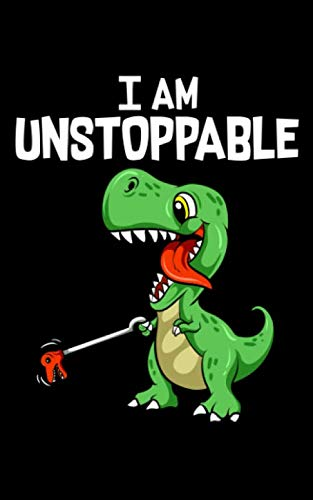 """I Am Unstoppable: Cute & Funny I Am Unstoppable T-Rex Dinosaur Grabber Pun 2020 Pocket Sized Weekly Planner & Gratitude Journal (53 Pages, 5"""" x 8"""") - ... - Small Fit For Purses, Backpacks & Pockets"""