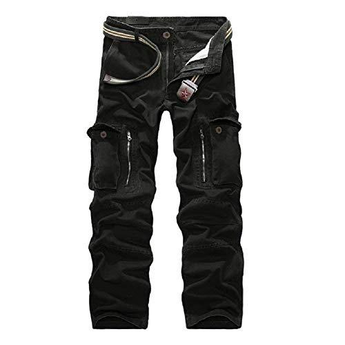 Con Ejército De Multiusos Size 29 Hombre Para Fashion Chándal Ropa Negro color Saoye Camuflaje Militares Cargo Pantalones qwEvzFZR