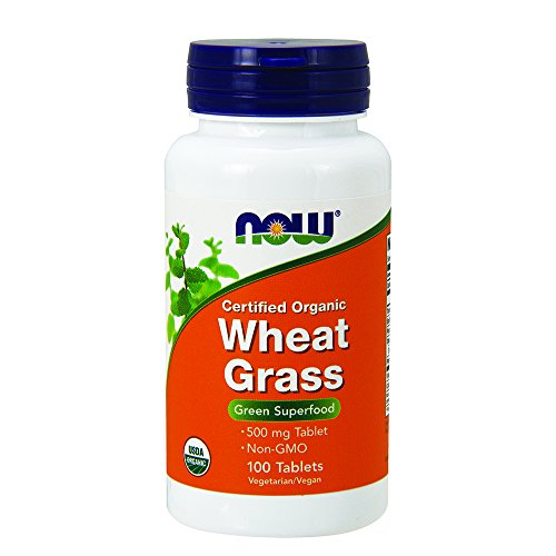 NOW Organic Wheat Grass 500 mg,100 Tablets