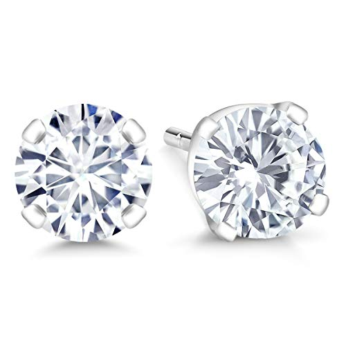 vs1 White Gold Stud - 4