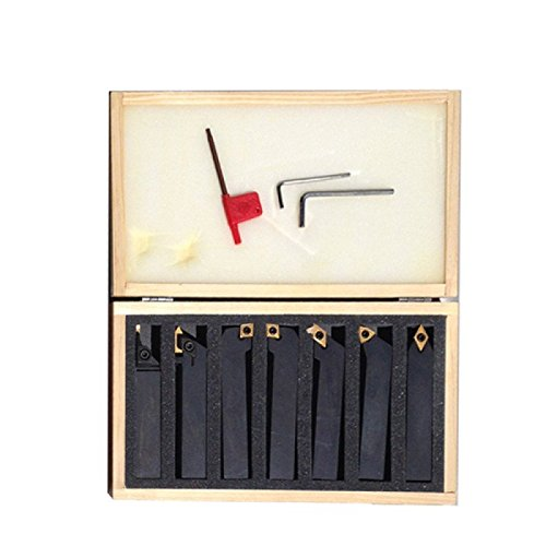Bolton Tools 7 PCS 1/2'' Insert Tool Holders With Carbide Inserts set (12-126-S03) by Bolton Tools