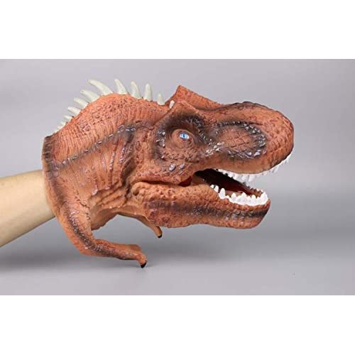 Dinosaur Stretchy Hand Puppets with Working Mouth for Imaginative Play