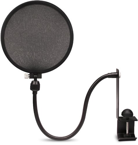 - Nady MPF-6 6-Inch Clamp On Microphone Pop Filter with Flexible Gooseneck and Metal Stabilizing Arm