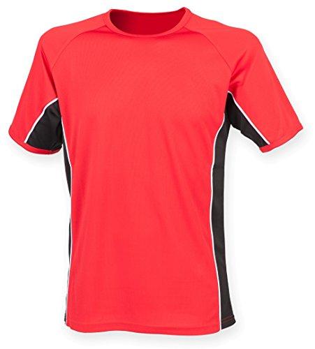 Finden y Hales panel Rendimiento T–shirt Red/ Black/ White