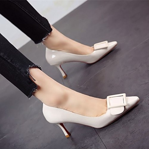 un primavera altos y señoras La Asakuchi tacones zapatos fino cuero otoño el FLYRCX zapatos Zapatos b con Rqzgw